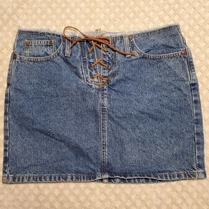 Mossimo denim jean skirt Juniors size 9